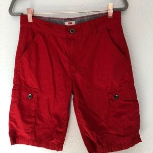 "Levi's Red Cargo Shorts Waist 28""  16R"